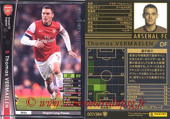 2012-13 - WCCF - N° 007 - Thomas VERMAELEN (Arsenal FC)