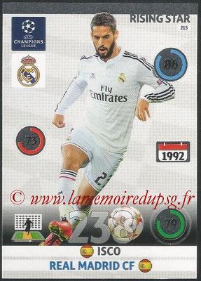 2014-15 - Adrenalyn XL champions League N° 215 - ISCO (Real Madrid CF) (Rising star)