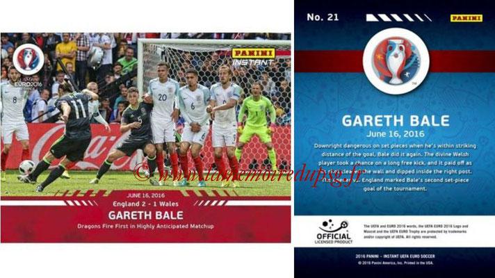 Panini Instant Euro 2016 - N° 021 - Gareth BALE