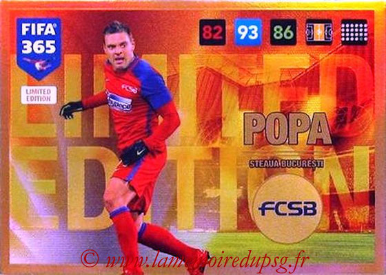 2016-17 - Panini Adrenalyn XL FIFA 365 - N° LE68 - Adrian POPA (Steaua Bucarest) (Limited Edition)
