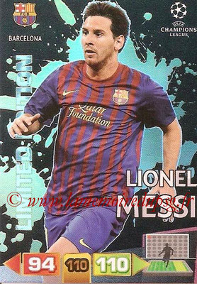 2011-12 - Panini Champions League Cards - N° LE06 - Lionel MESSI (FC Barcelone) (Limited Editon)