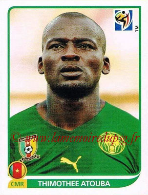 2010 - Panini FIFA World Cup South Africa Stickers - N° 401 - Thimothee ATOUBA (Cameroun)