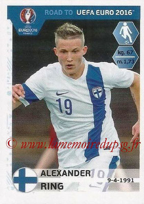 Panini Road to Euro 2016 Stickers - N° 330 - Alexander RING (Finlande)