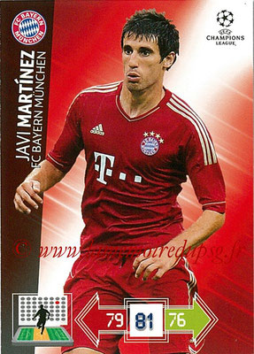 2012-13 - Adrenalyn XL champions League N° 054 - Javi MARTINEZ (FC Bayern Munich)