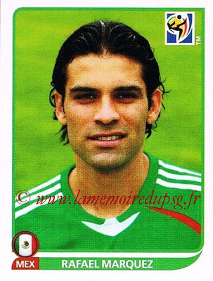 2010 - Panini FIFA World Cup South Africa Stickers - N° 056 - Rafael MARQUEZ (Méxique)