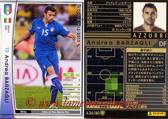2012-13 - WCCF - N° A34 - Andrea BARZAGLI (Italie)