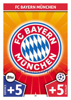 2017-18 - Topps UEFA Champions League Match Attax - N° 055 - Logo FC Bayern Munich (Club Badge)