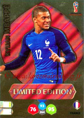 2018 - Panini FIFA World Cup Russia Adrenalyn XL - N° LE-KM - Kylian MBAPPE (France) (Limited Edition)