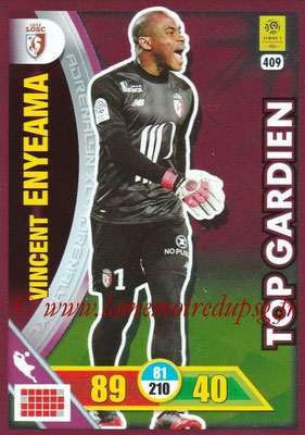 2017-18 - Panini Adrenalyn XL Ligue 1 - N° 409 - Vincent ENYEAMA (Lille) (Top Gardien)