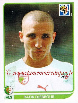 2010 - Panini FIFA World Cup South Africa Stickers - N° 238 - Rafik DJEBBOUR (Algérie)