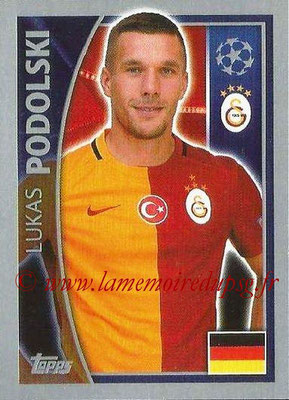 2015-16 - Topps UEFA Champions League Stickers - N° 201 - Lukas PODOLSKI (Galatasaray AS)