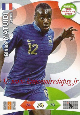 2014 - Panini Road to FIFA World Cup Brazil Adrenalyn XL - N° 094 - Blaise MATUIDI (France)