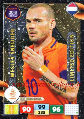 2018 - Panini Road to FIFA World Cup Russia Adrenalyn XL - N° LE-WS - Wesley SNEIJDER (Pays-Bas) (Limited Edition)