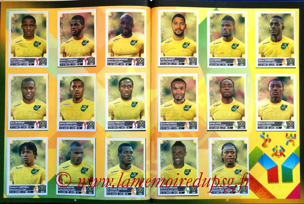 Panini Copa America Chile 2015 Stickers - Pages 26 et 27 - Jamaïque