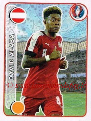 Panini Euro 2016 Stickers - N° 649 - David ALABA (Autriche)