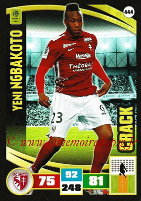 2016-17 - Panini Adrenalyn XL Ligue 1 - N° 444 - Yeni NGBAKOTO (Metz) (Crack)