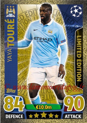 2015-16 - Topps UEFA Champions League Match Attax - N° LE4 - Yaya TOURE (Manchester City FC) (Limited Edition Gold)