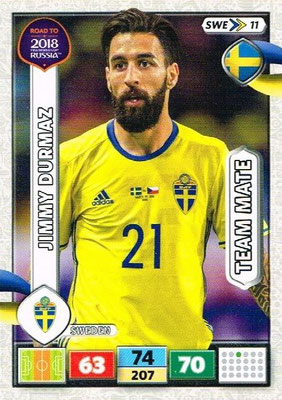 2018 - Panini Road to FIFA World Cup Russia Adrenalyn XL - N° SWE11 - Jimmy DURMAZ (Suède)