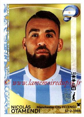 Panini Copa America Centenario USA 2016 Stickers - N° 308 - Nicolas OTAMENDI (Argentine)