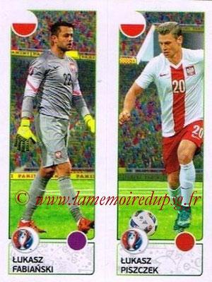 Panini Euro 2016 Stickers - N° 314 - Lukasz FABIANSKI + Lukasz PISZCZEK (Pologne)