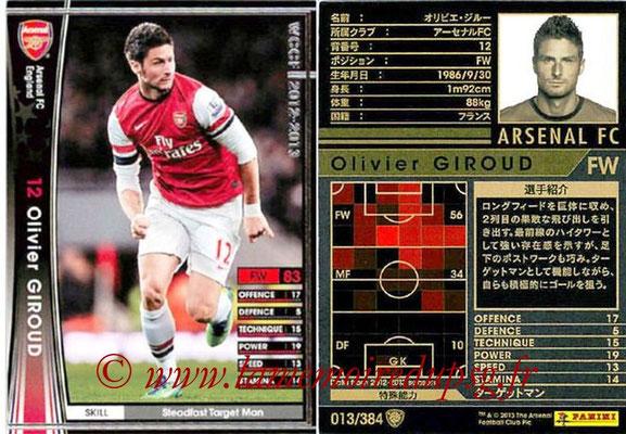 2012-13 - WCCF - N° 013 - Olivier GIROUD (Arsenal FC)
