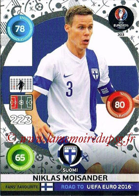 Panini Road to Euro 2016 Cards - N° 303 - Niclas MOISANDER (Finlande) (Fans' Favorite)