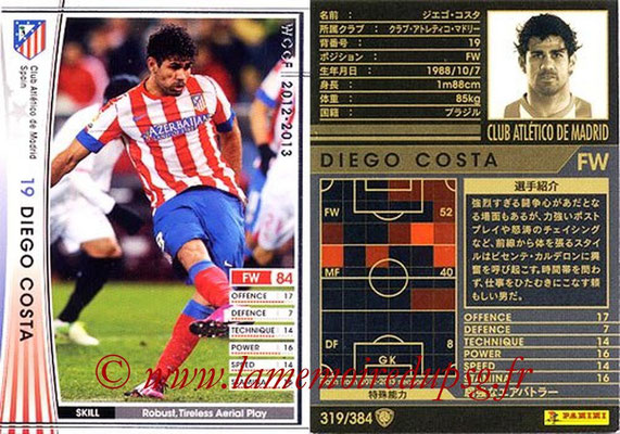 2012-13 - WCCF - N° 319 - Diego COSTA (Atletico  Madrid)