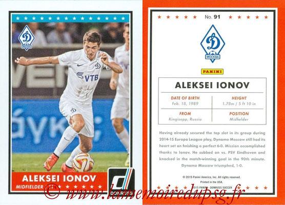 2015 - Panini Donruss Soccer - N° 091 - Aleksei IONOV (Dynamo Moscou)