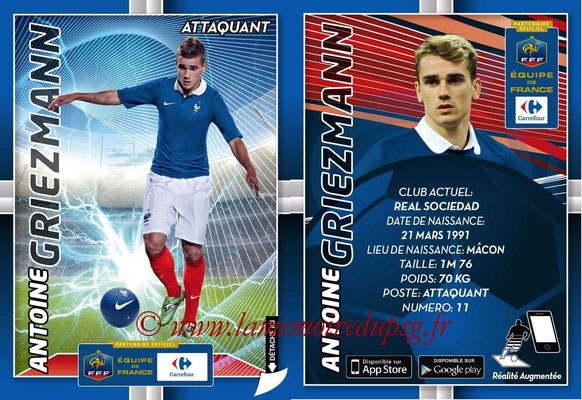 WC 2014 Collection Carrefour 3D Bleus - N° 19 - Antoine GRIEZMANN (Real Sociedad)