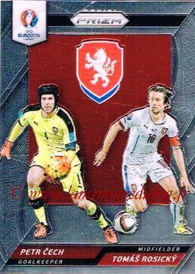 Euro 2016 Panini Prizm - N° CCD-04 - Petr CECH + Tomas ROSICKY (République Tchèque) (Country Combinaions Duals)