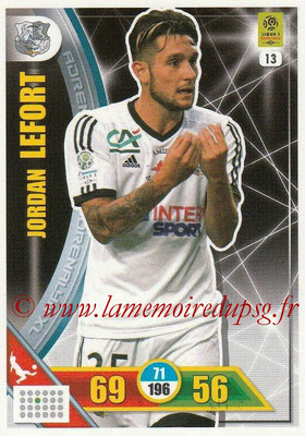 2017-18 - Panini Adrenalyn XL Ligue 1 - N° 013 - Jordan LEFORT (Amiens)