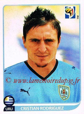 2010 - Panini FIFA World Cup South Africa Stickers - N° 078 - Cristian RODRIGUEZ (Uruguay)