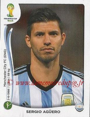 2014 - Panini FIFA World Cup Brazil Stickers - N° 428 - Sergio AGUERO (Argentine)