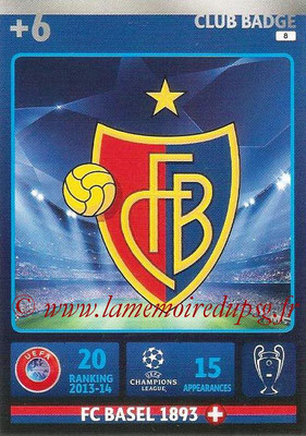 2014-15 - Adrenalyn XL champions League N° 008 - Logo FC Bale (Club Badge)