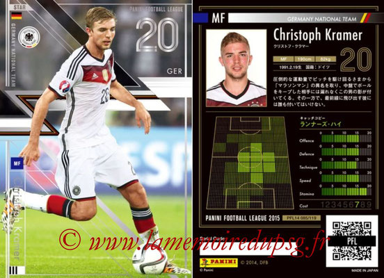 Panini Football League 2015 - PFL14 - N° 085 - Christoph KRAMER (Allemagne) (Star)