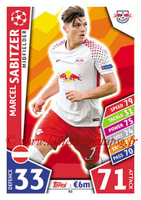 2017-18 - Topps UEFA Champions League Match Attax - N° 085 - Marcel SABITZER (RB Leipzig)