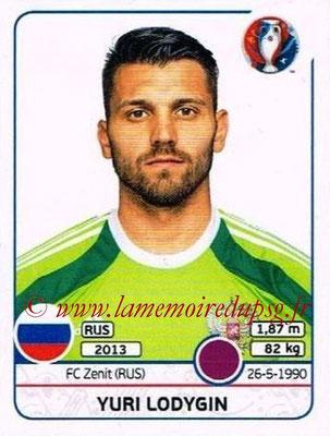 Panini Euro 2016 Stickers - N° 162 - Yuri LODYGIN (Russie)