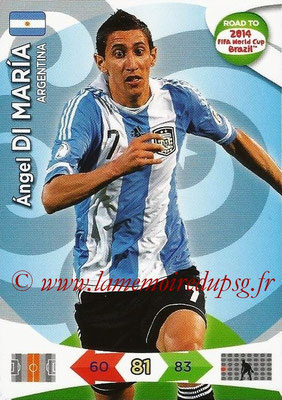 2014 - Panini Road to FIFA World Cup Brazil Adrenalyn XL - N° 006 - Angel DI MARIA (Argentine)