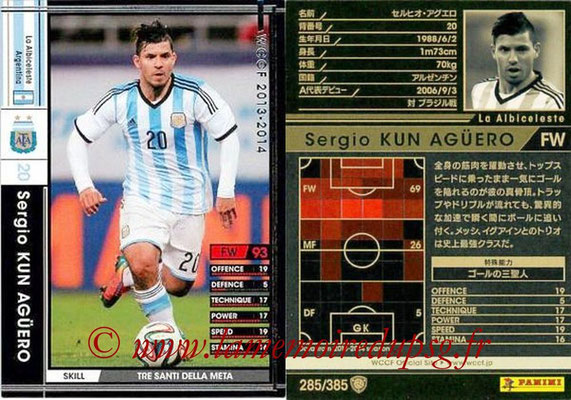 2013-14 - WCCF - N° 285 - Sergio KUN AGUERO (Argentine)