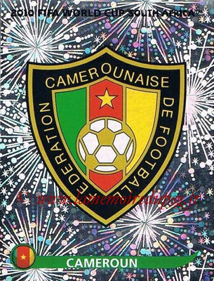 2010 - Panini FIFA World Cup South Africa Stickers - N° 392 - Logo Cameroun