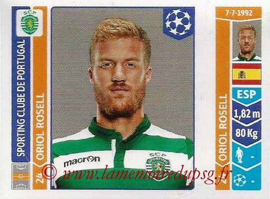 2014-15 - Panini Champions League N° 538 - Oriol ROSELL (Sporting Club de Portugal)