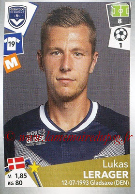 2017-18 - Panini Ligue 1 Stickers - N° 061 - Lukas LERAGER (Bordeaux)
