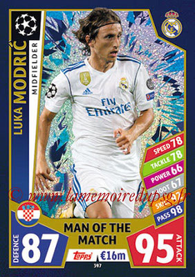 2017-18 - Topps UEFA Champions League Match Attax - N° 397 - Luka MODRIC (Real Madrid CF) (Man Of the Match)