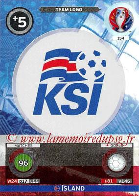 Panini Euro 2016 Cards - N° 154 - Logo Islande (Team Logo)