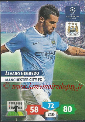 2013-14 - Adrenalyn XL champions League N° 171 - Alvaro NEGREDO (Manchester City FC)