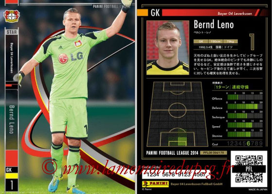 Panini Football League 2014 - PFL08 - N° 094 - Bernd LENO (Bayer Leverkusen)
