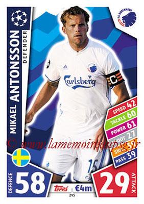 2017-18 - Topps UEFA Champions League Match Attax - N° 295 - Mikael ANTONSSON (FC Copenhague)