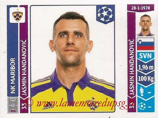2014-15 - Panini Champions League N° 543 - Jasmin HANDANOVIC (NK Maribor)
