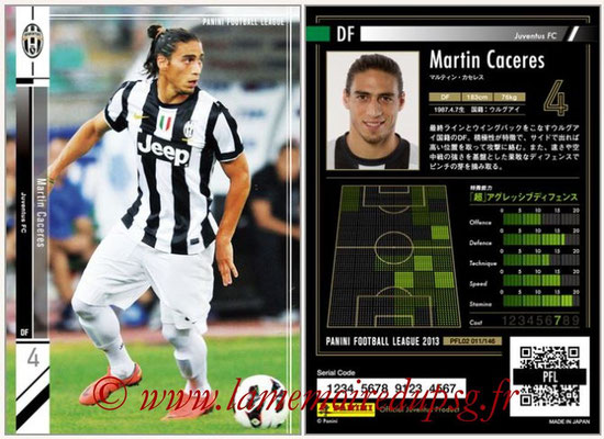 Panini Football League 2013 - PFL02 - N° 011 - Martin Caceres ( Juventus FC )