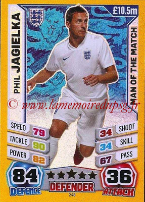 Topps Match Attax England 2014 - N° 248 - Phil JAGIELKA (Angleterre) (Man Of The Match)